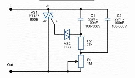 Схема светорегулятора