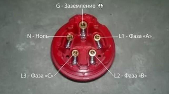 Розетка для трехфазной проводки