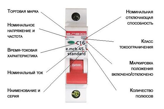 Как расшифровать автоматический выключетель