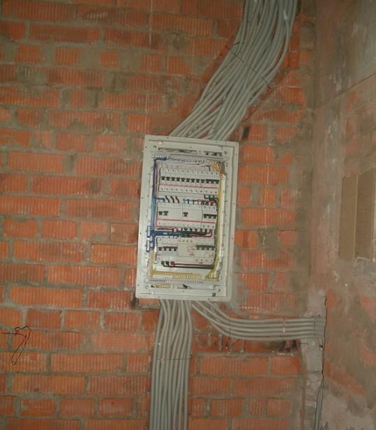 Подвод кабелей в электрический щит