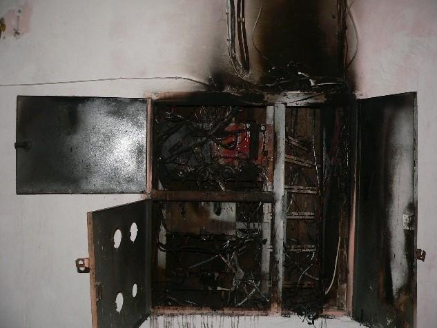 Сгоревший квартирный щит