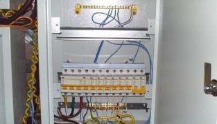 Сборка и установка щита освещения