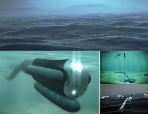 Анаконда на дне океана