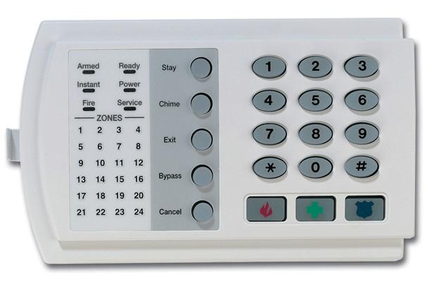 Контрольная панель сигнализации дома