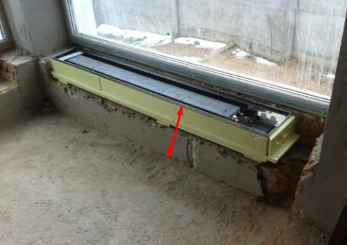 Толщина стяжки для напольного конвектора