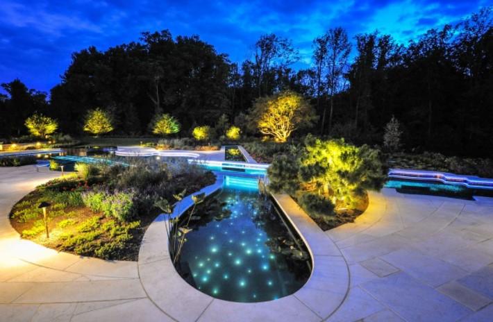 Фибероптика в освещении сада