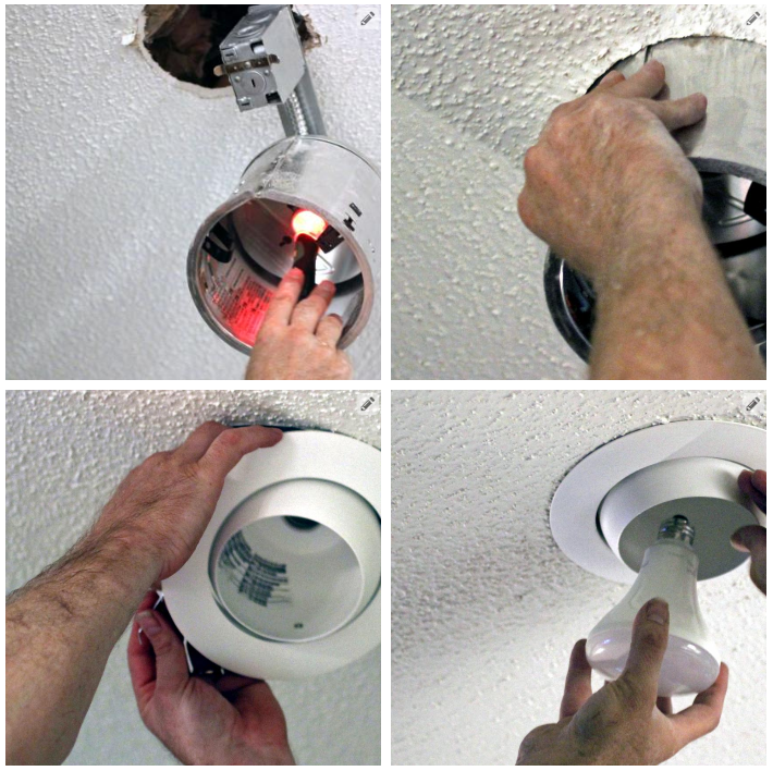 как заменить встраиваемый светильник