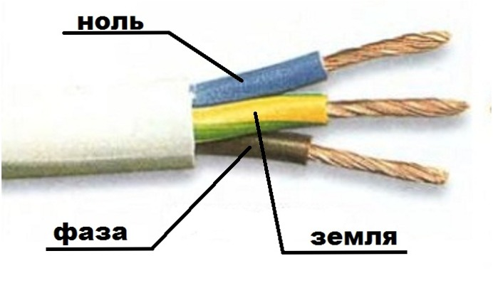 как определить нулевой провод на люстре