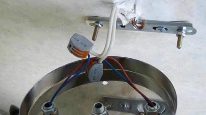как крепить люстру к потолку из бетона