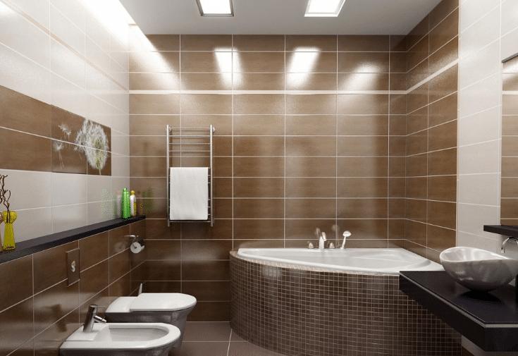 сколько точечных светильников в ванну