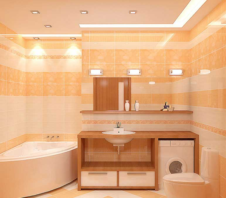 как поставить светильник в ванну видео