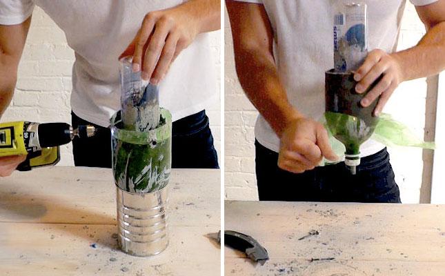 как сделать люстру из бутылок своими руками