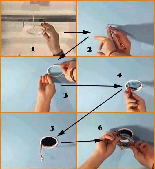 как повесить тяжелую люстру на натяжной потолок