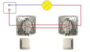 Как подключить проходной выключатель света