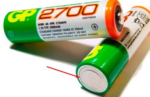 пальчиковая батарейка минус